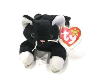 Zip The Cat 1994 Ty Beanie Baby Multiple Tag Errors Green Eyed Cat Mint