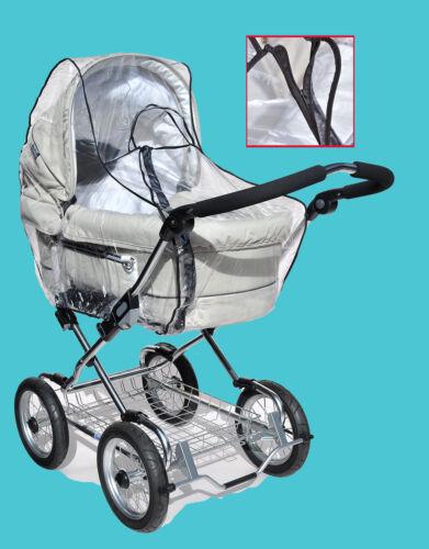 ASMi Regenverdeck Kinderwagen Reißverschluss extra groß Wetterschutz Regenhaube
