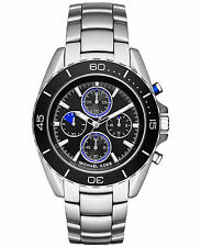 Michael Kors MK8462 Jetmaster Jet Master Black Dial Silver Stainless Steel Watch