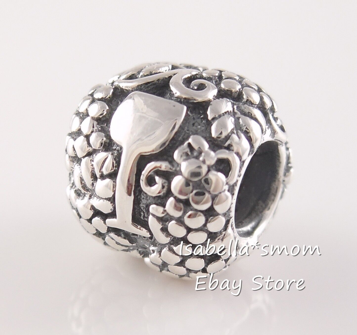 Retired Vino Authentic Pandora Silver Wine Bottle Glass Charm 791222 W Pouch For Sale Online Ebay