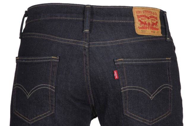 9b08dc30152 Levi s Mens 511 Slim Fit Stretch Jeans - Dark Hollow 40x32 32 ...