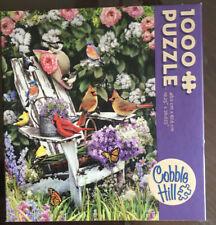 Summer Adirondack Birds 1000 PC Jigsaw Puzzle Cobble Hill Complete Guarantee