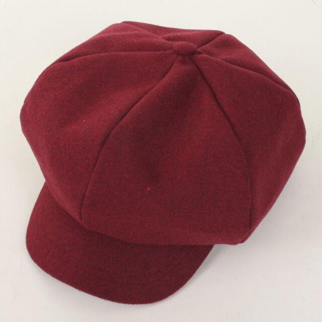 Women Wool Unisex 6Panel Applejack Cap Fashion Gatsby Newsboy Driving Cabbie Hat
