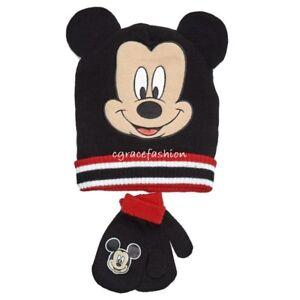 a8cbfd6615872b Disney Mickey Mouse Boy Black Red 3D Ears Beanie Winter Ski Hat Cap ...