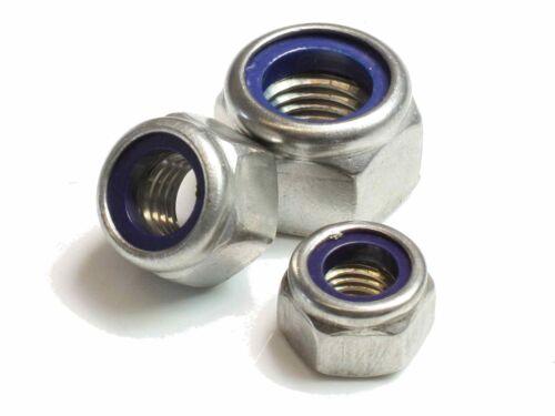M10 DIN 982 Sicherungsmuttern A2 V2A Edelstahl Klemmteil hohe Form Stopmuttern