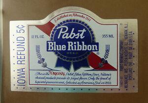 VINTAGE-AMERICAN-BEER-LABEL-PABST-BREWERY-BLUE-RIBBON-BEER-12-FL-OZ-8