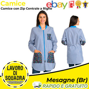 Camisas Para Maestro Escuela Materna Niños de Trabajo Rayas Cremallera Bolsillos