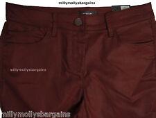 New Marks & Spencer Brown Leather Look Jeggings Size 10 Med DEFECTS LABEL FAULT