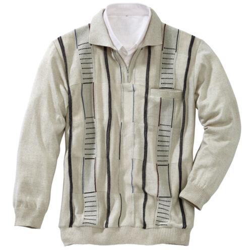 Herren Pullover Herrenpullover Jacquard Polo Pullover Strick Pulli Reissverschlu