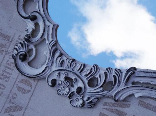Antique miroir Mural Baroque wall mirror s/'applique white black silver cérém rococo 118