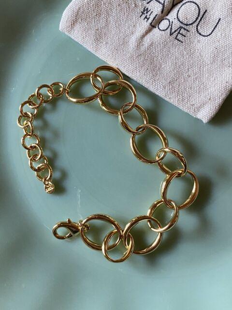 Bayou With Love Rachel Zoe Oval Chain Bracelet Gold-Tone