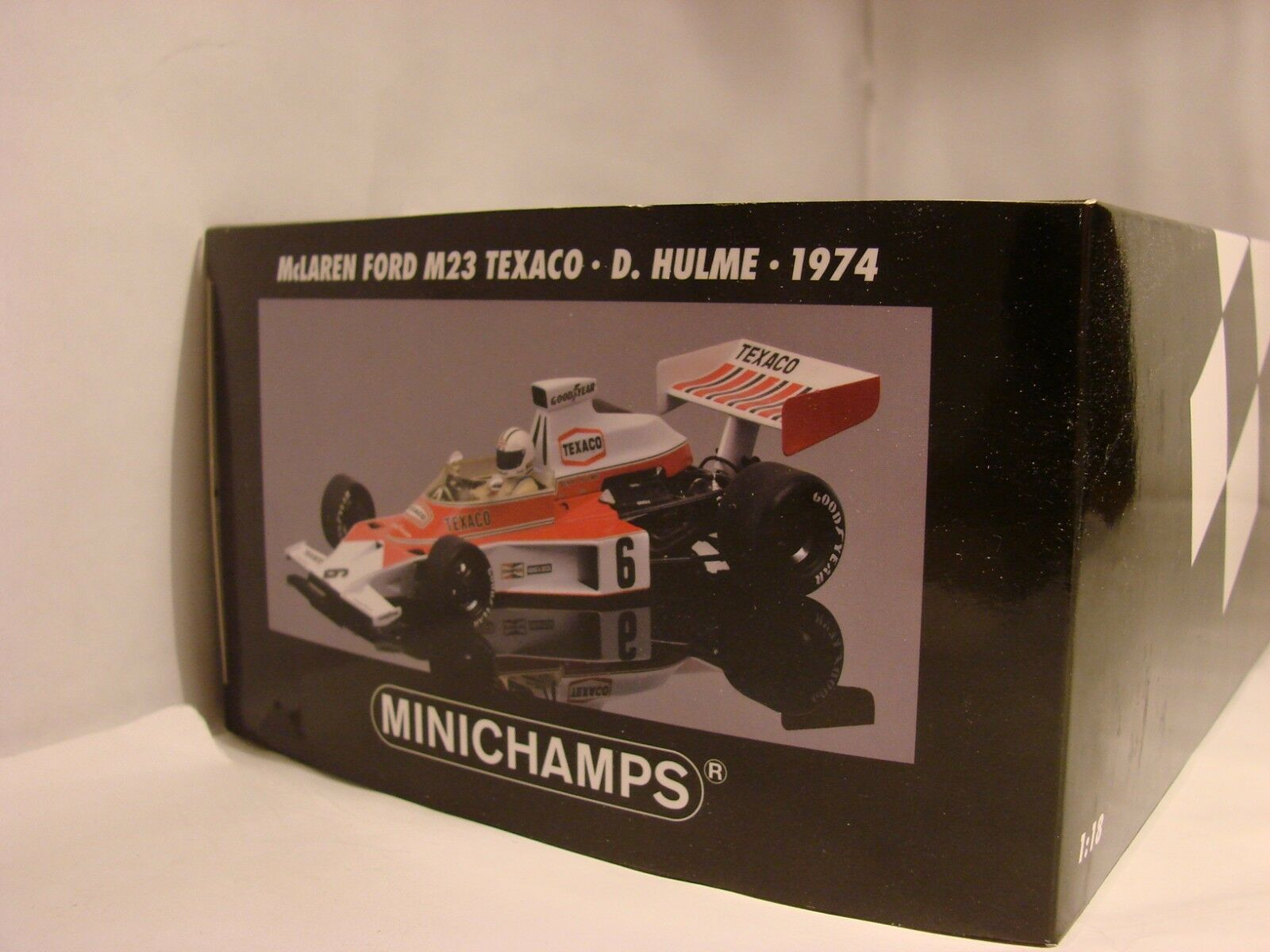 1 18 McLaren Ford m23, 1974, Denny Hulme, World Champion 1967, OVP, LIM. 624 ed.