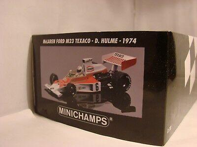 1/18 Mclaren Ford M23, 1974, Denny Hulme, World Champion 1967, Ovp, Lim. 624 Ed.-mostra Il Titolo Originale Styling Aggiornato