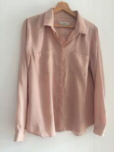 order cheaper provide plenty of Details about Anne Taylor Loft Ladies Rose Gold Blouse Shirt Size L