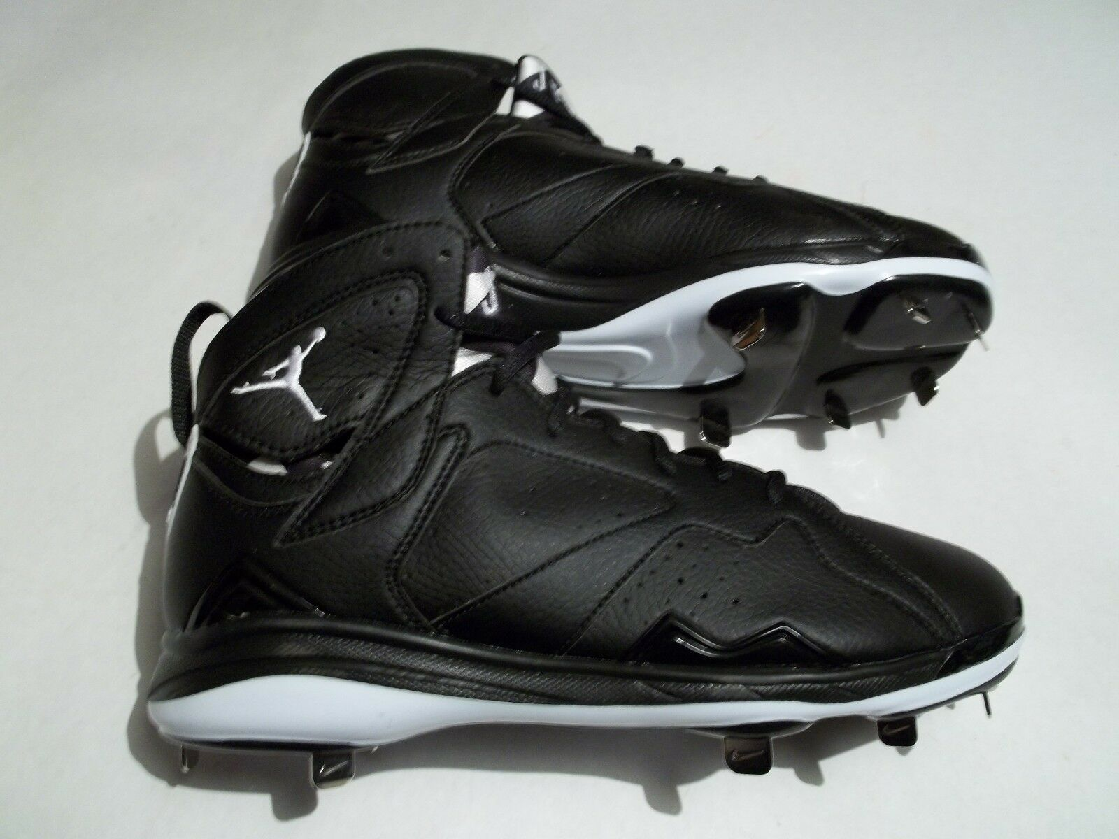 New Nike Air Jordan 7 Retro Metal Baseball Cleats Black White 684943-010 New shoes for men and women, limited time discount