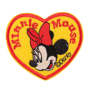 """1pcs Lovely Minnie Mouse Embroidered Iron ON Patch Kids Cloth Patch 3X2.75"""""""