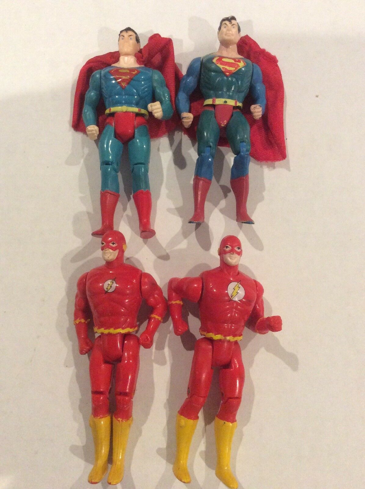 4 loose Kenner Super Powers Action Figure Lot Variants Rare