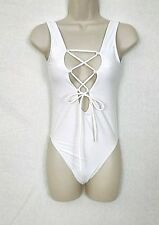 6357e013c3 item 2 Women's Swimsuit White One Piece Lace Up Front Size X-Small XS  -Women's Swimsuit White One Piece Lace Up Front Size X-Small XS