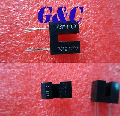 10PCS TCST1103 SENSR OPTO SLOT 3.1MM TRANS THRU 4-Lead Dual Row NEW