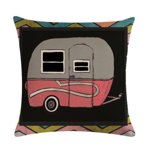 Soft Cartoon Car Cotton Linen Pillow Case Sofa 18/'/' Cushion Cover Home Decor