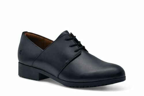 Shoes for Crews Women/'s Madison Black Slip Resistant Lace Up Work Shoes