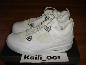 outlet store 98579 9be67 Image is loading Nike-Air-Jordan-4-Retro-SZ-12-PURE-