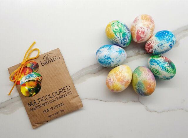 Benino Multicolour Easter Egg Colouring/Dye Kit for 40 Eggs