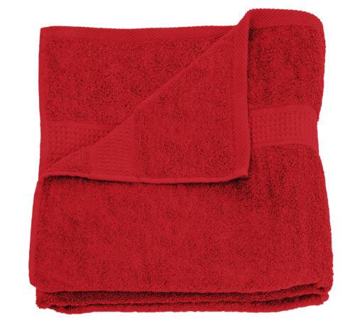 Badetuch rot 100x150 cm Frottee Baumwolle schnelltrocknend XXL groß weich