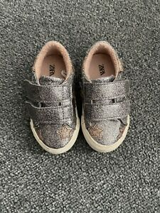 Zara Baby Girl Silver Trainers Shoes
