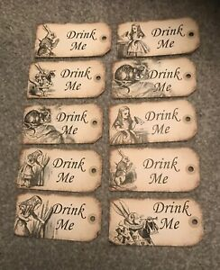 10-Large-Alice-in-wonderland-Drink-Me-tags-Wedding-Birthday-tea-party-Decoration