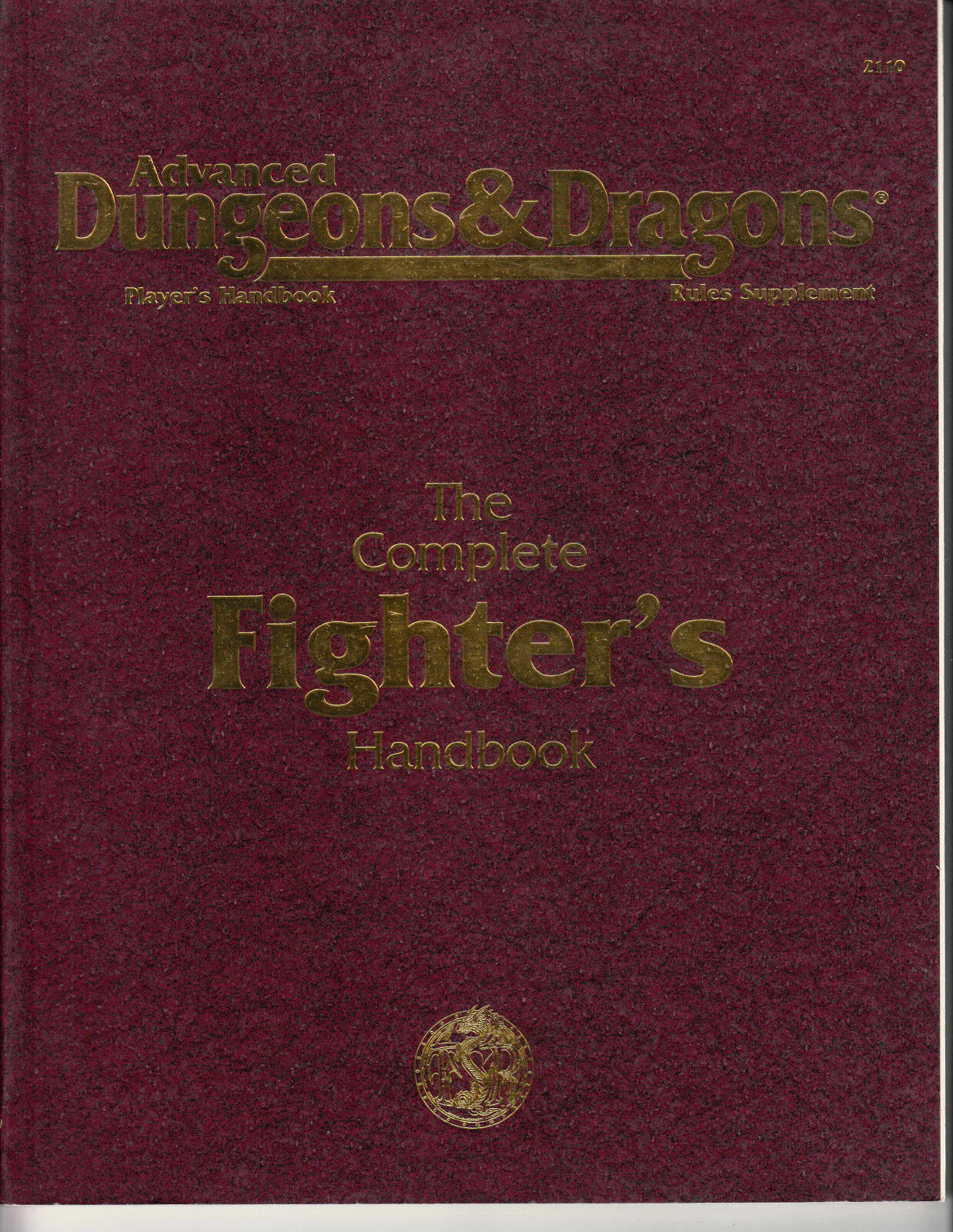 AD&D - The Complete Fighter's Handbook - NEW ENG ENG ENG TSR 2110 Supplement f62442