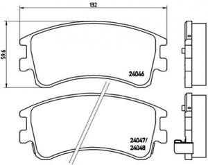 Bremsbelagsatz Scheibenbremse für Bremsanlage Vorderachse BREMBO P 49 032