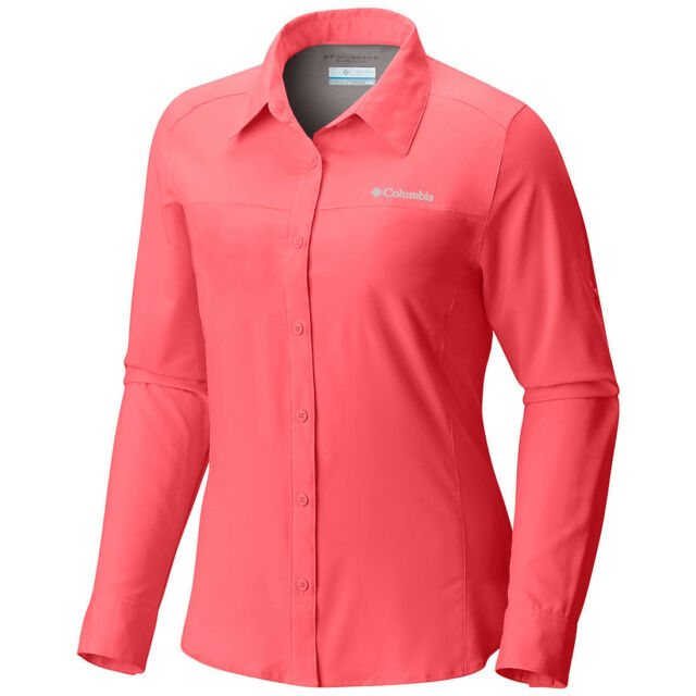 """New Womens Columbia /""""Meadowgate/"""" Omni-Shade Vented Short Sleeve Shirt Plus Size"""