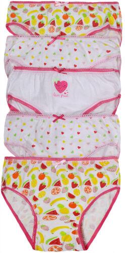 Filles Briefs Pack de 5 Neuf Enfants 100/% coton multiple Licorne sirène 2-13 ans