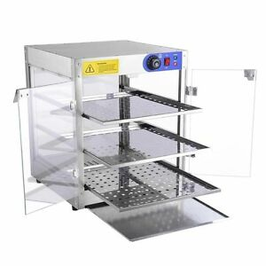 Countertop Glass Oven : ... Countertop Pizza Hot Dogs Food Warming Glass Display Case Oven eBay