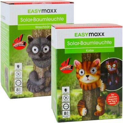 Vendita Calda 2x Easymaxx Solar-albero Animali Solar-led-lampada A Luce Solare Lampada Albero 4 Designs-hte Solarleuchte Baumleuchte 4 Designs It-it Profitto Piccolo