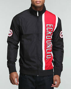 New-Ecko-Men-039-s-Track-Jacket-Black-amp-Red-Martial-Arts-MMA-UFC-Pride