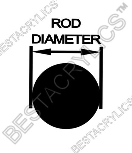 """8 DIFFERENT 1//4"""" INCH DIAMETER x 36/"""" LONG CLEAR COLOR PLEXIGLASS ACRYLIC RODS"""