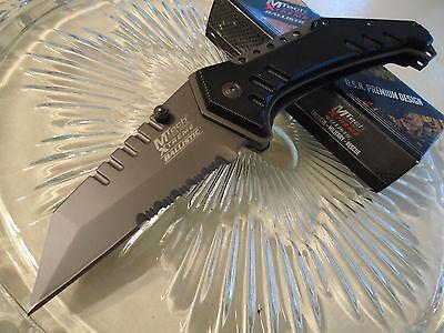 Mtech Xtreme Ballistic Dean Hogarth Grey Titanium Clipper Pocket Knife MX-A814GY