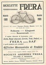 W7582 Biciclette FRERA - Pubblicità del 1909 - Old advertising