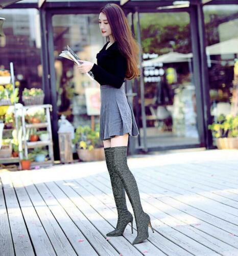 Womens Ladies Pointed Toe High Heels Stiletto Pumps Ankle Boots Nightclub Shoes