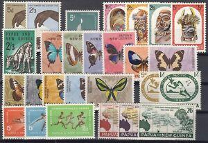 F3270-BRITISH-PAPUA-amp-NEW-GUINEA-1962-1966-MINT-MH-MODERN-LOT-CV-130