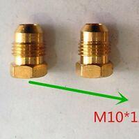 Pair Fitting Metric Plug M10 M10x1 M10x1.0 Male Hex Head Brass Oil Fuel Gas L-77