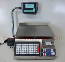 Torrey LSQ-40L, 40 x .01 lb Price Computing Deli Scale w/Label Printer Stainless