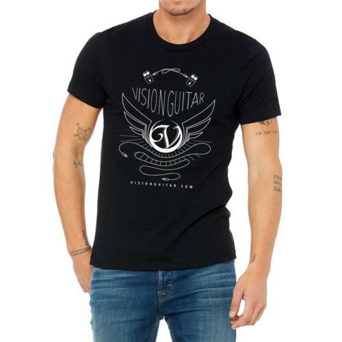 Vision Guitar Logo Bella+Canvas Unisex Jersey Shirt Black XL