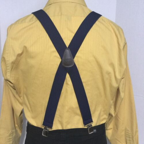 """Made in the USA New Navy Blue XL Suspenders // Braces 1.5/"""" Adj Men/'s"""