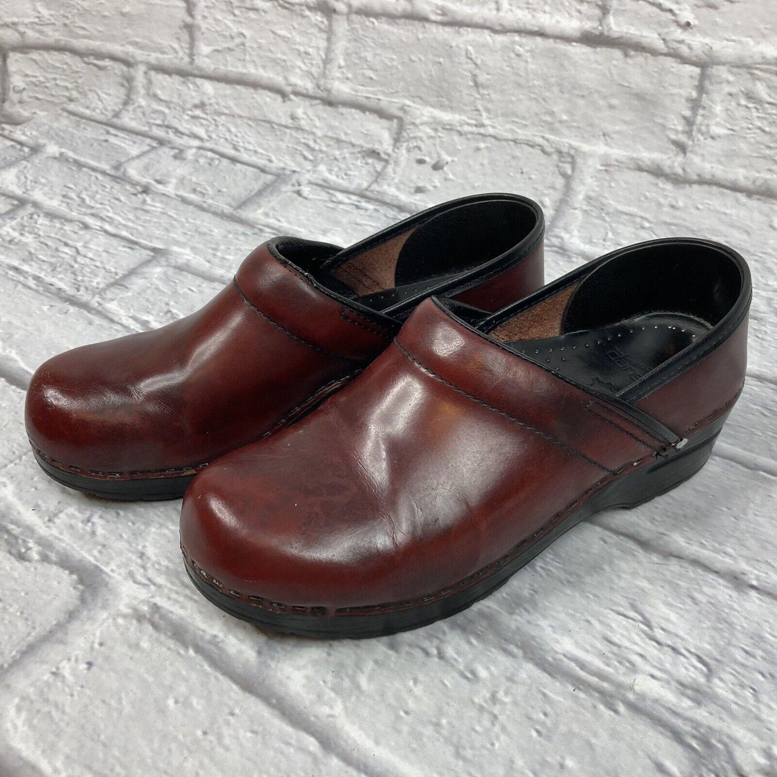 DANSKO Womens Professional Cabrio Clogs Leather Brown 0080240 Size 39 / 8.5-9