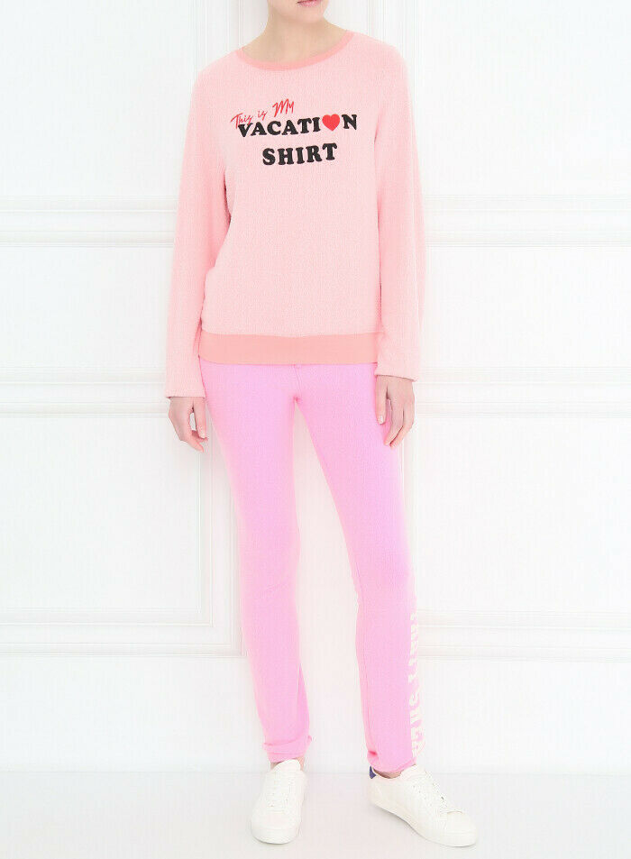 Wildfox Womens Vacation Shirt WVV61364Y Sweatshirt Relaxed PGCR Pink Size M