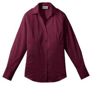Edwards-Garment-Women-039-s-V-Neck-Long-Sleeve-Wrinkle-Resistant-Blouse-Shirt-5034