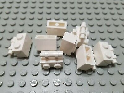Lego 1x2 Brick with Studs on 1 Side White Lot of 8 NEW